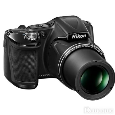 Компактный фотоаппарат Nikon Coolpix L830/Black [VNA600E1]