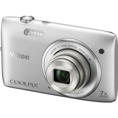 Компактный фотоаппарат Nikon Coolpix S3500/Silver [VNA290E1]
