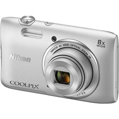 Компактный фотоаппарат Nikon Coolpix S3600/Silver [VNA550E1]