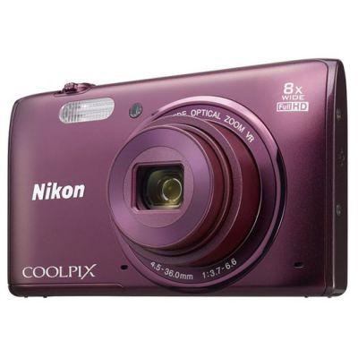 Компактный фотоаппарат Nikon Coolpix S5300/Plum [VNA542E1]