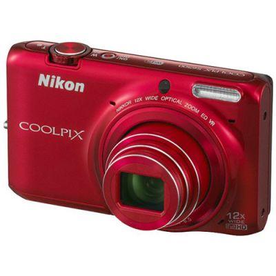 Компактный фотоаппарат Nikon Coolpix S6500/Red [VNA272E1]