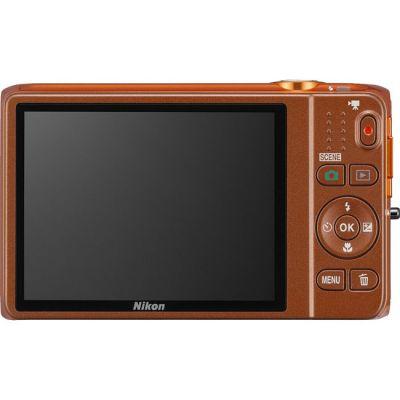 Компактный фотоаппарат Nikon Coolpix S6500/Orange [VNA275E1]