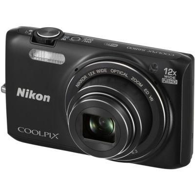 Компактный фотоаппарат Nikon Coolpix S6800/Black [VNA520E1]