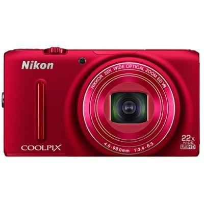 Компактный фотоаппарат Nikon Coolpix S9500/Red [VNA262E1]