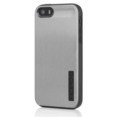 Incipio накладка для iPhone 5 Dual PRO Shine Titanium Silver/Obsidian Black IPH-875