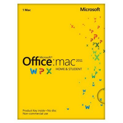 Программное обеспечение Microsoft Office Mac Home Student 2011 Russian Russia Only EM DVD No Skype GZA-00317