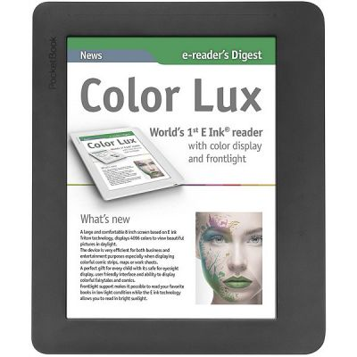 Электронная книга PocketBook Color Lux 801 Black - Grey PB801-Y-CIS