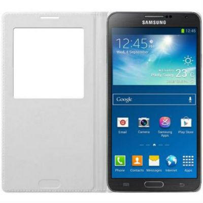 Чехол Samsung для Galaxy S 5 S-View (белый) EF-CG900BWEG