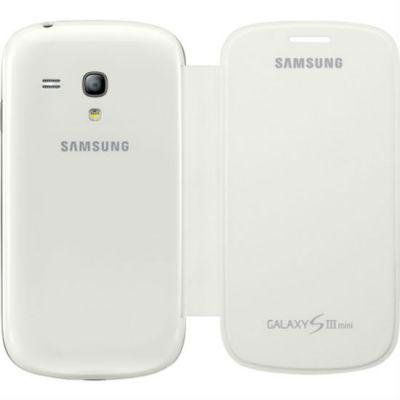 Чехол Samsung для Galaxy S III Mini GT-I8190 (белый) EFC-1M7FWEGSER