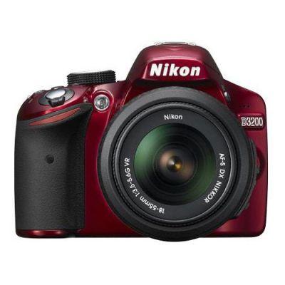 Зеркальный фотоаппарат Nikon D3200 kit 18-55VRII red [VBA331K002]