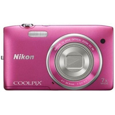 Компактный фотоаппарат Nikon Coolpix S3500/Pink [VNA295E1]
