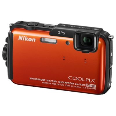 Компактный фотоаппарат Nikon Coolpix AW110/Orange [VNA313E1]