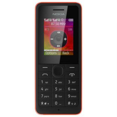 Телефон Nokia 107 Dual sim (красный) A00014690