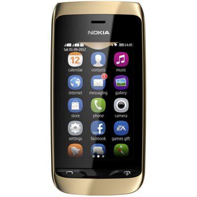 Смартфон Nokia Asha 308 (светло-золотистый)