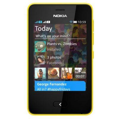 Смартфон Nokia 501 DS (желтый)