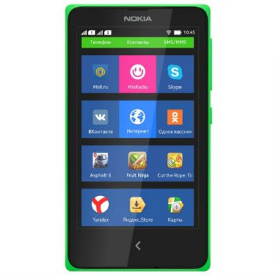 Смартфон Nokia X Dual Sim Green RM-980 GREEN