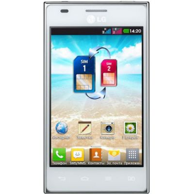 Смартфон LG Optimus L5 Dual (белый) E615