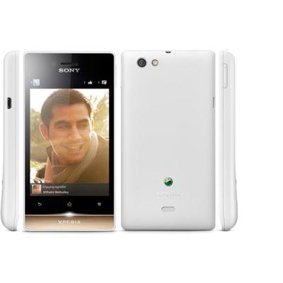 Смартфон Sony Xperia miro White/Gold (ST23i)