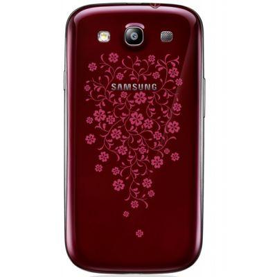 Смартфон Samsung Galaxy S III 16Gb GT-I9300 Red La Fleur GT-I9300GRZSER