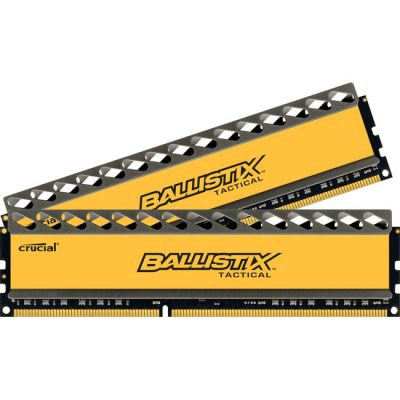 Оперативная память Crucial 8GB kit (4GBx2) DDR3 1600 MT/s (PC3-12800) CL8 @1.5V Ballistix Tactical UDIMM 240pin BLT2CP4G3D1608DT1TX0CEU