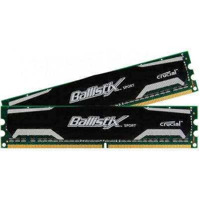 Оперативная память Crucial 8GB kit (4GBx2) DDR3 1600 MT/s (PC3-12800) CL9 @1.5V Ballistix Sport UDIMM 240pin BLS2CP4G3D1609DS1S00CEU