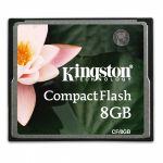 Карта памяти Kingston 8GB CompactFlash Card CF/8GB