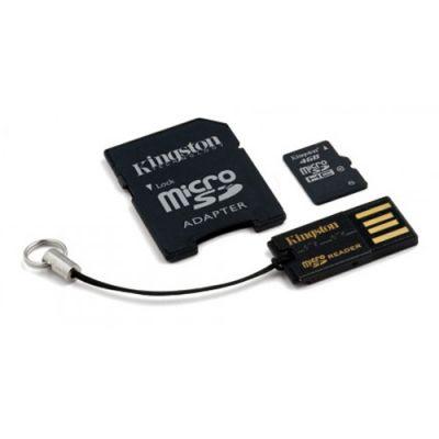 ����� ������ Kingston 4GB microSDHC Class 10 (SD ������� + USB �����) MBLY10G2/4GB