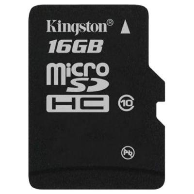 Карта памяти Kingston 16GB microSDHC Class 10 SDC10/16GBSP