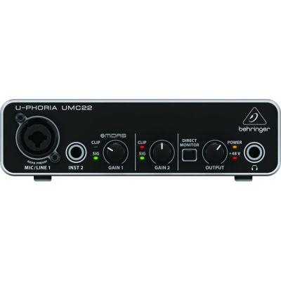 Behringer USB аудио интерфейс U-PHORIA UMC22