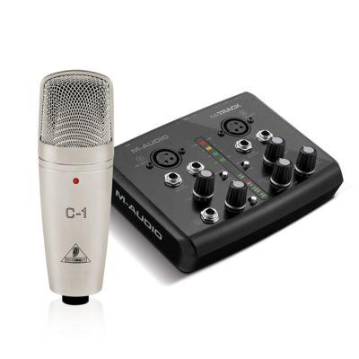 M-Audio Комплект для домашней звукозаписи M-TRACK + BEHRINGER C1