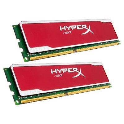 Оперативная память Kingston DIMM 8GB 1600MHz DDR3 Non-ECC CL9 (Kit of 2) XMP HyperX red Series KHX16C9B1RK2/8X