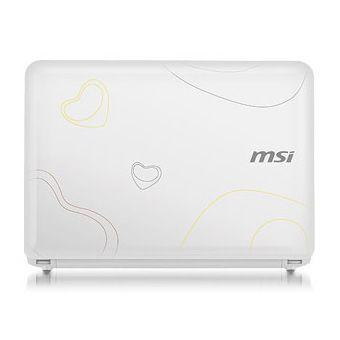 Ноутбук MSI Wind U100-014 White (с рисунком)