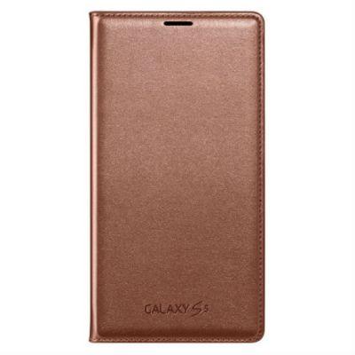 Чехол Samsung Flip Wallet для Galaxy S 5 (золотой) EF-WG900BFEG