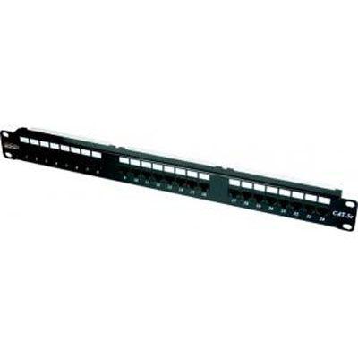 """Neomax Патч панель 19"""" для кабеля UTP, 24 порта RJ45 EPLH240BK"""