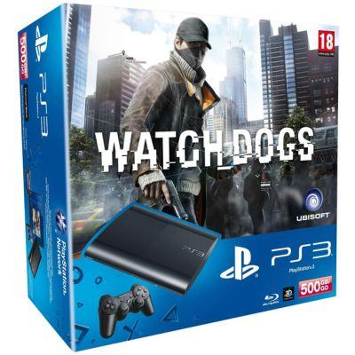 ������� ��������� Sony PlayStation 3 Super Slim 500Gb + Watch Dogs PS719233381