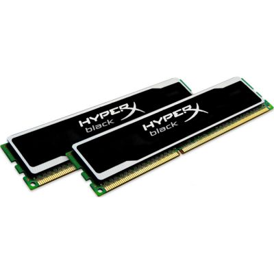 Оперативная память Kingston DIMM 8GB 1600MHz DDR3 CL9 (Kit of 2) XMP HyperX black Series KHX16C9B1BK2/8X