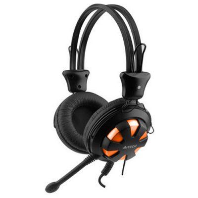 Наушники с микрофоном A4Tech HS-28 (Orange Black)
