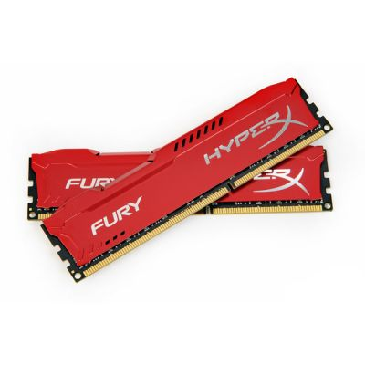 ����������� ������ Kingston DIMM 16GB 1600MHz DDR3 CL10 (Kit of 2) HyperX FURY Red Series HX316C10FRK2/16