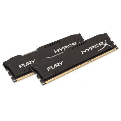 ����������� ������ Kingston DIMM 8GB 1600MHz DDR3 CL10 DIMM (Kit of 2) HyperX FURY Black Series HX316C10FBK2/8