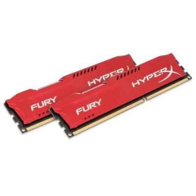 Оперативная память Kingston DIMM 8GB 1866MHz DDR3 CL10 DIMM (Kit of 2) HyperX FURY Red Series HX318C10FRK2/8
