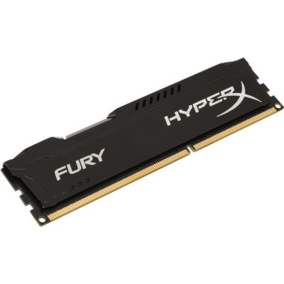 Оперативная память Kingston DIMM 8GB 1600MHz DDR3 CL10 HyperX FURY Black Series HX316C10FB/8
