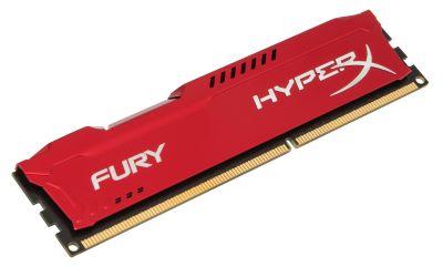 ����������� ������ Kingston DIMM 8GB 1600MHz DDR3 CL10 HyperX FURY Red Series HX316C10FR/8
