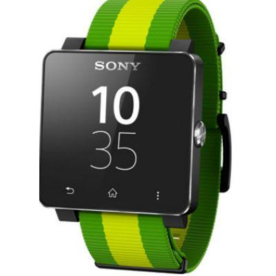 Sony Часы SmartWatch 2 SW2 FIFA (тканевый ремешок, цвет зеленый)