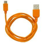 Кабель Human Friends MicroUSB to USB Super Link Rainbow M Orange