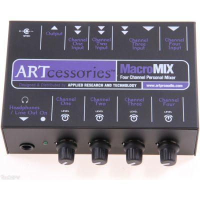 Микшерный пульт ART 4-х канальный персональный MACROMIX