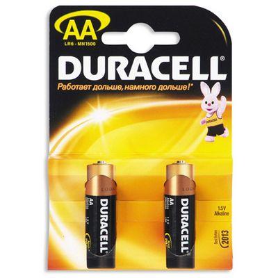 Батарейки Duracell Basic AA 2шт LR6-2BL-2