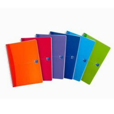 Oxford тетрадь Oxford Essentials А5,50 листов, клетка, обл. ламинированный картон на скрепке 100103400/002601 100103399
