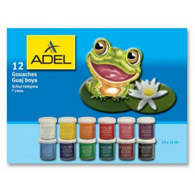 Adel Гуашь 234-0612-000, 15 мл, 12 цветов 234 0612 000