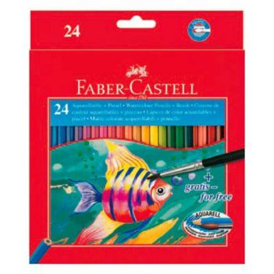 Faber-Castell Карандаши акварельные Colour Pencils 24 цвета (с кисточкой) 114425