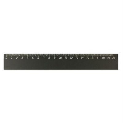 Унипласт Линейка «Уни» 20см (черный) 220872